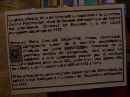 La sphère Coronelli, de Camille Flamarion